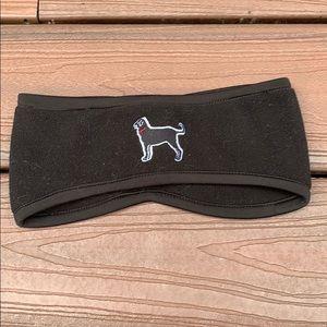 black dog headband